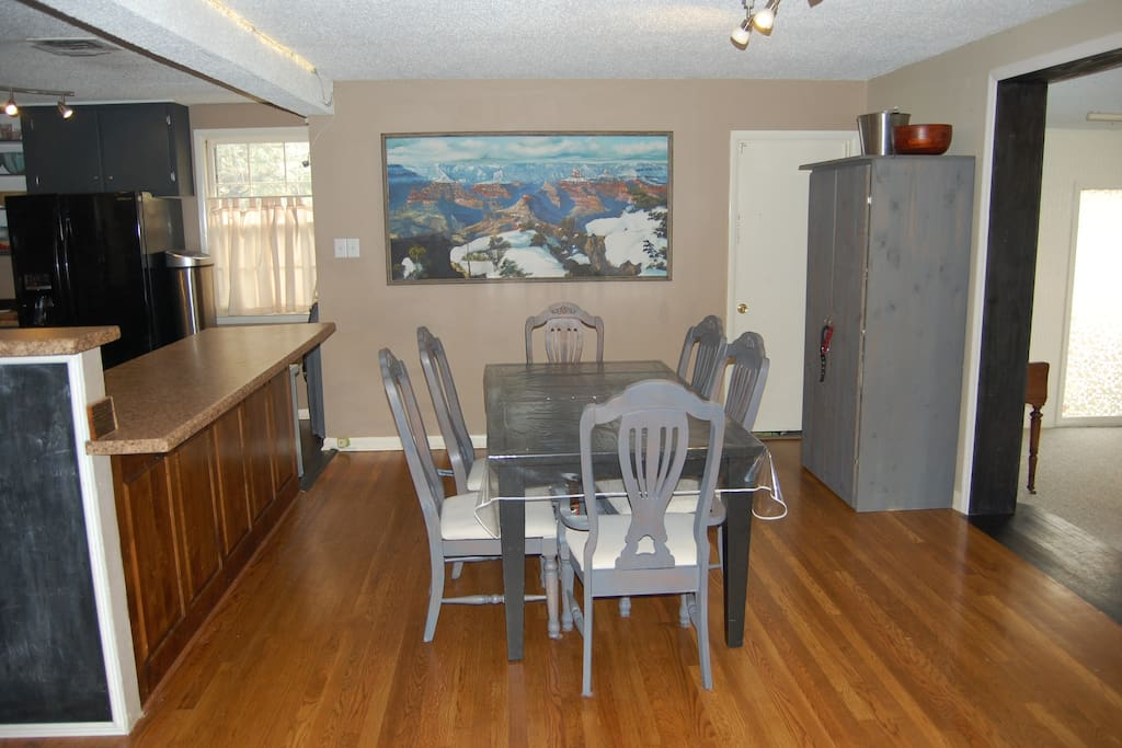 Dining room includes large pantry.