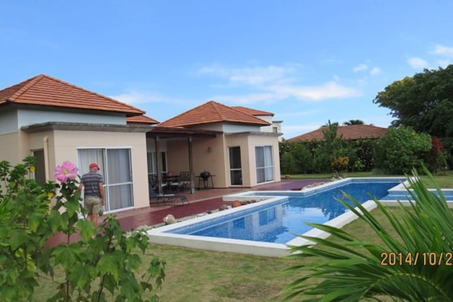 Rear garden with private pool