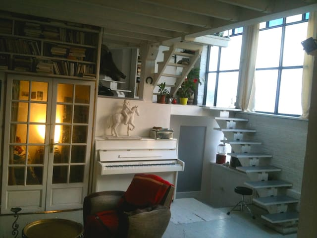Lightflooded room in atypical loft  - Montrouge - Hus