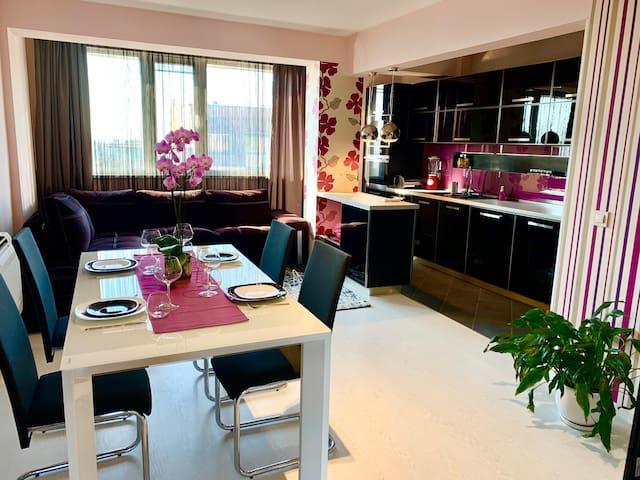 Hall & Kitchen & Living room