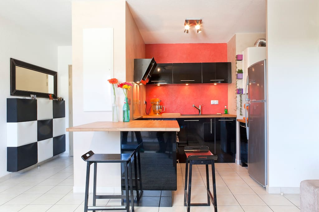 cuisine conviviale et spacieuse