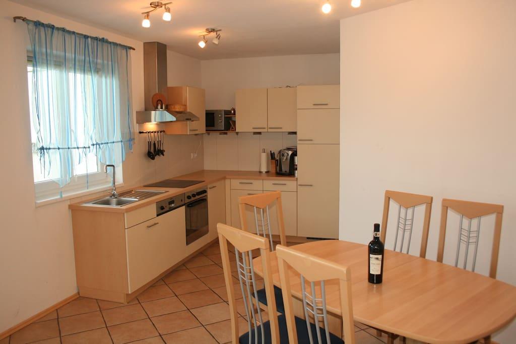 Apartment Irmi Küche und Essbereich