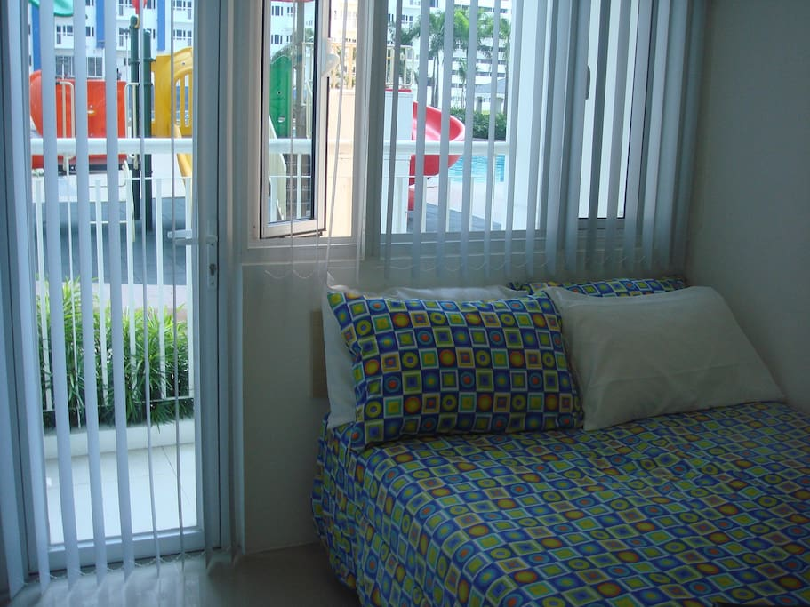 1 Fully furnished bedroom with balcony