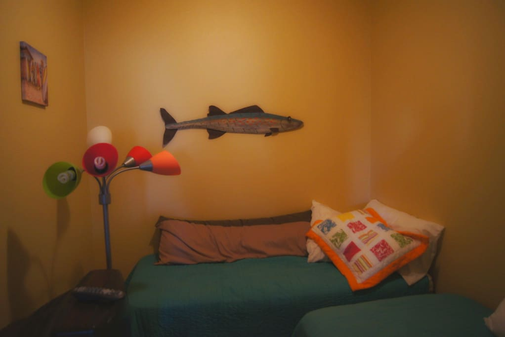 twin beds in kids bonus room