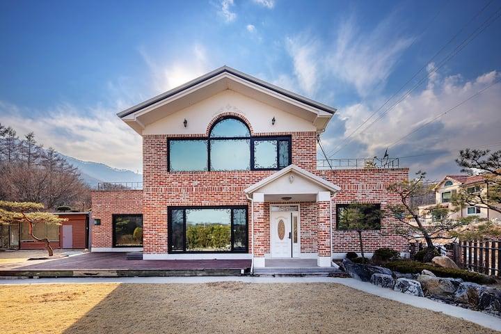 #아담빌리지, 양평전원주택, 단독사용, 가족모임/워크샵/단체행사, 스튜디오 렌탈 가능