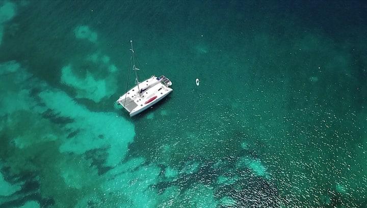 Cabines privées sur catamaran 47 pieds
