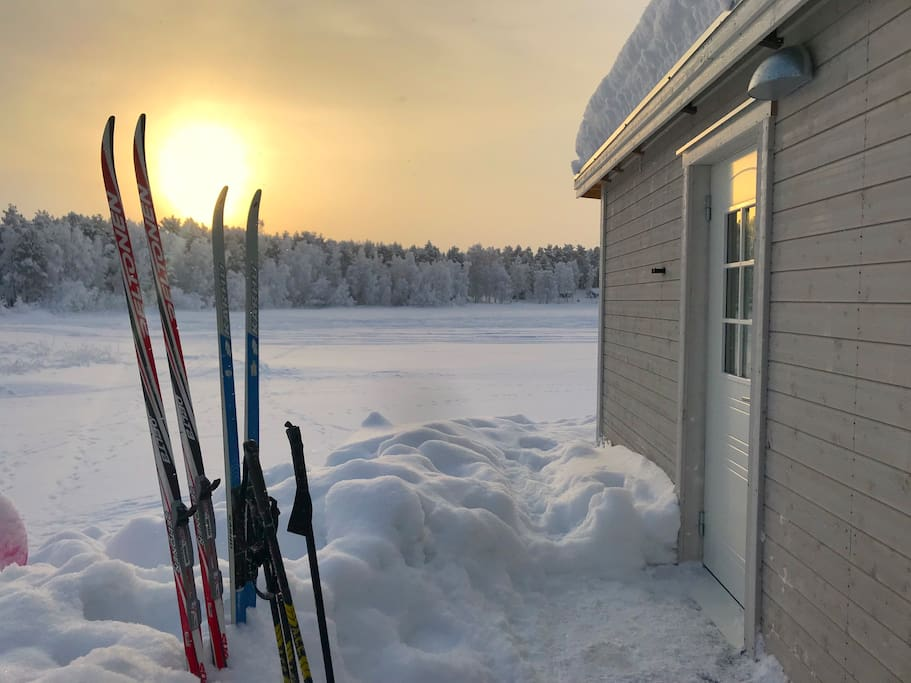 Rent skis from me and ski right out from the cabin!