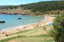 Only natural sandy beach on Island Krk is just 15 minutes from our apartment