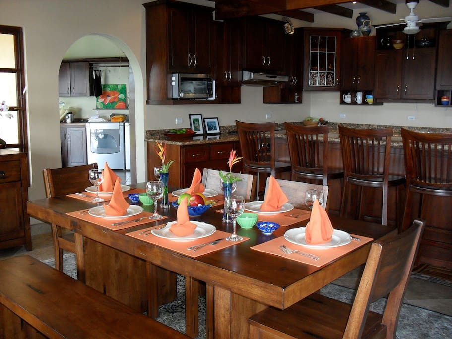 Roomy kitchen, and lots of dining space