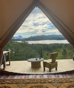 Spectacular tent with unforgettable view