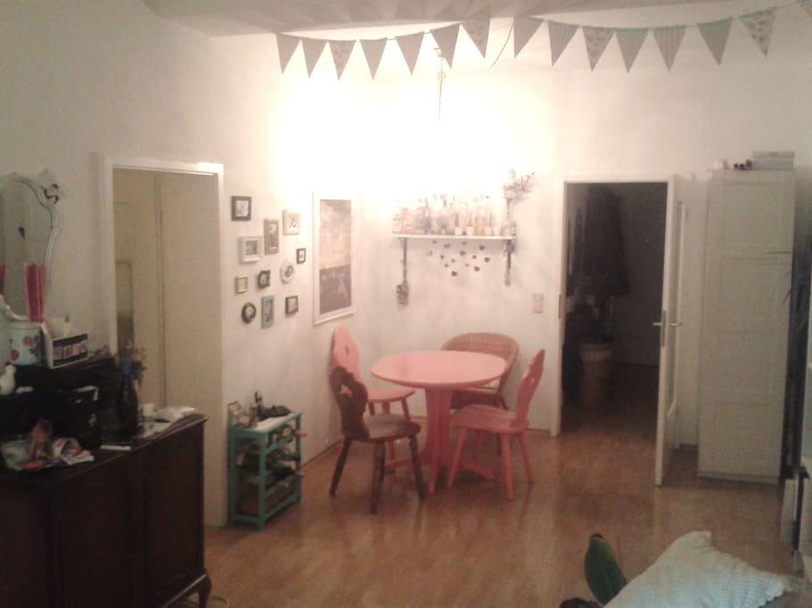 Eating area in the living room
