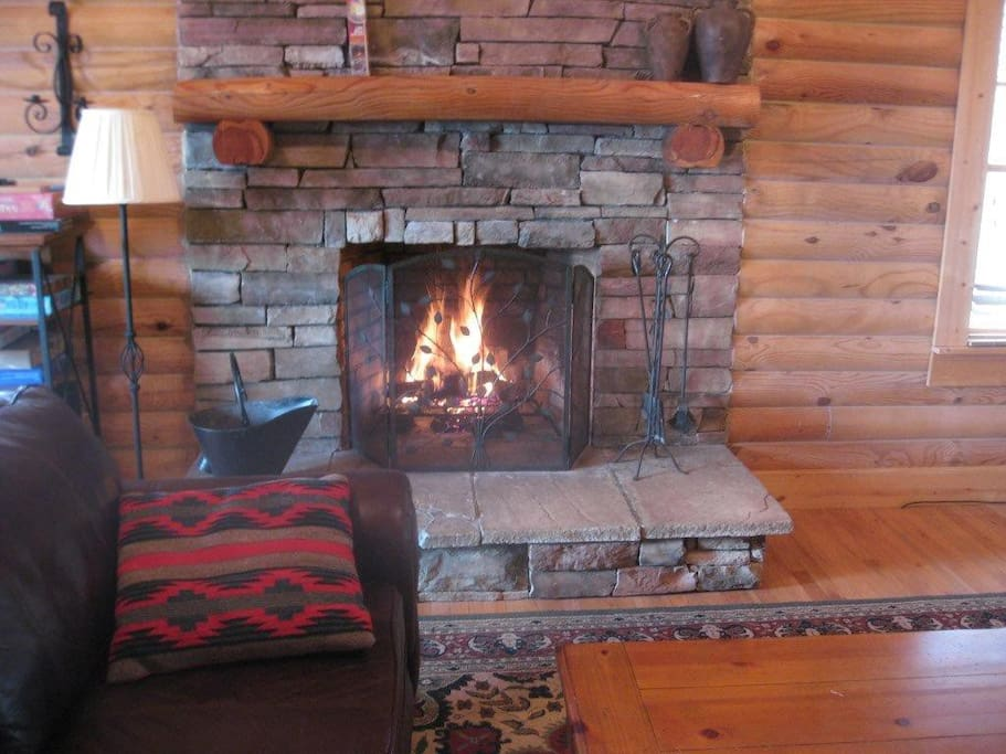 Warm your tootsies in front of this Beautiful  Fireplace