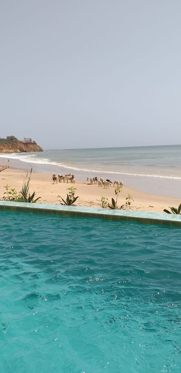 Duplex de la piscine face à l'océan