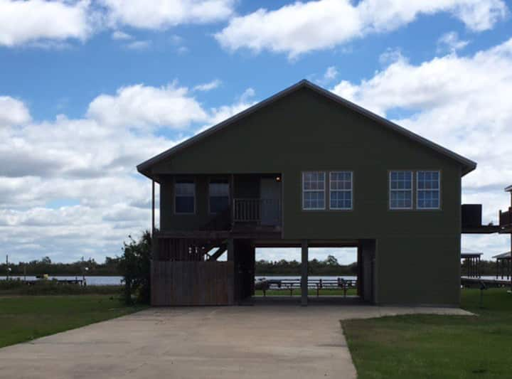 Waterfront camp in Hackberry on Lake Breeze Drive