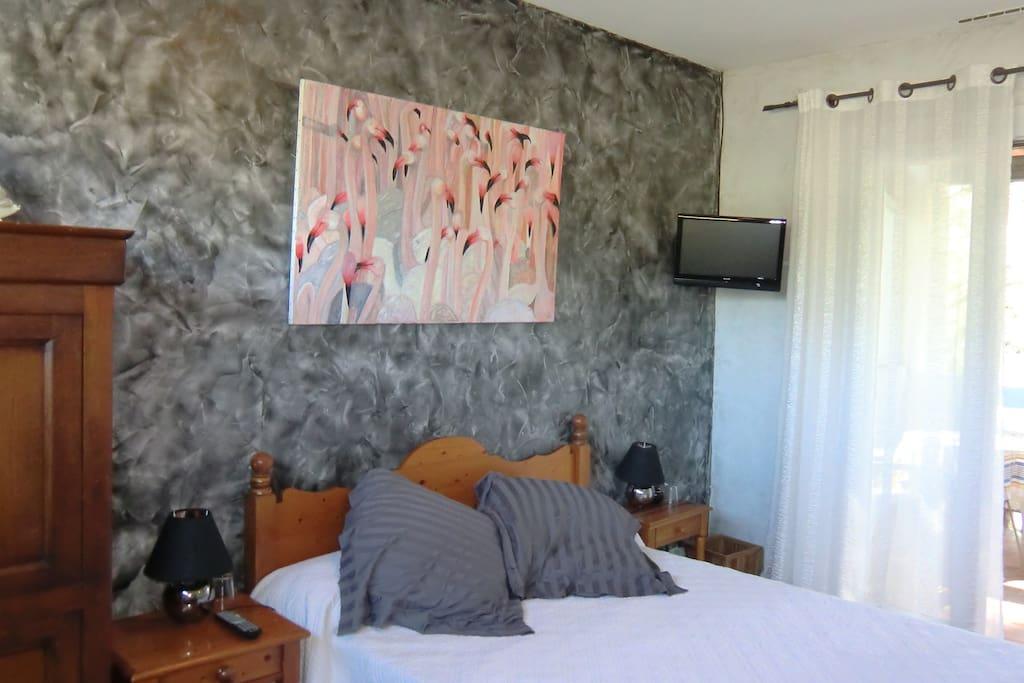Chambre avec terrasse couverte