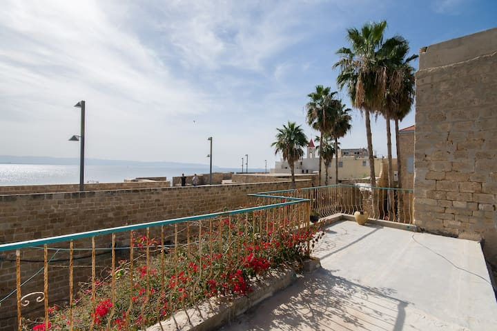 Rooftop terrace with view at sea, private rooms - Acre - Daire