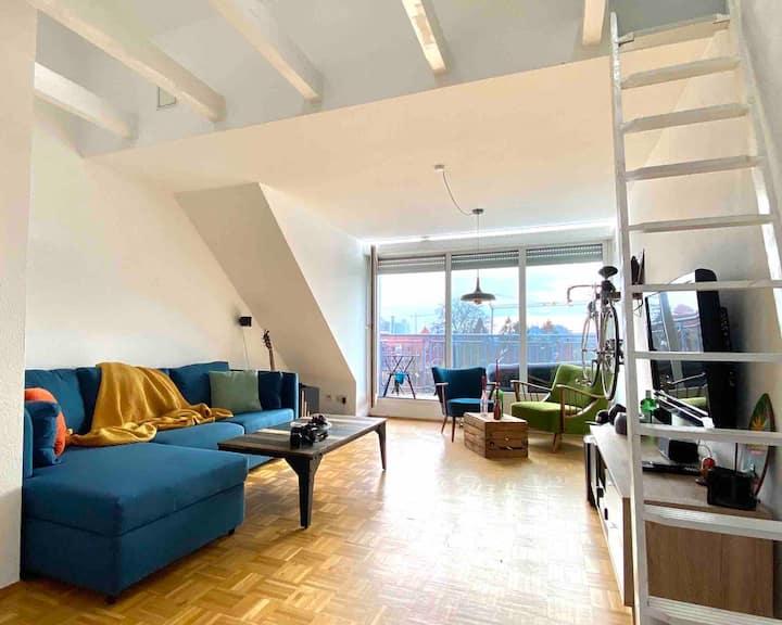 Gemütliche Wohnung über den Dächern Münsters