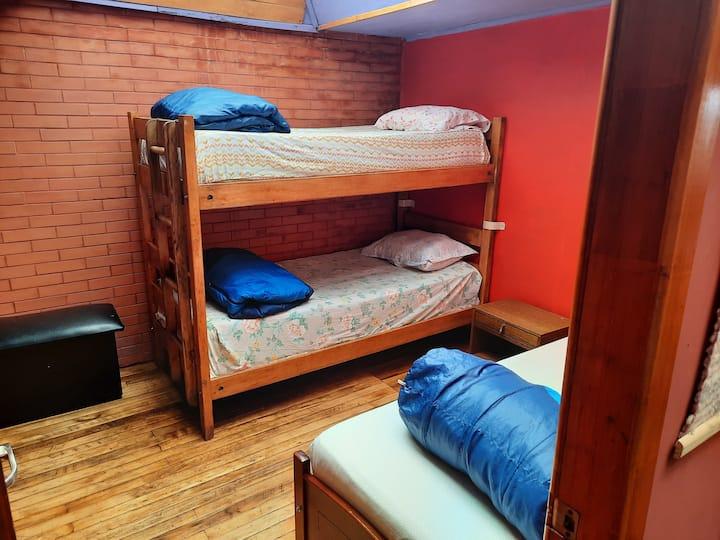 Habitación/3 personas/baño compartido