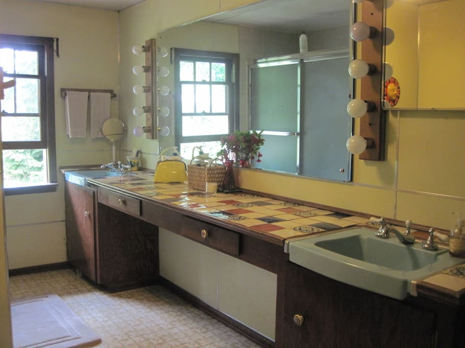 Your private or semi-private bathroom with tub and shower