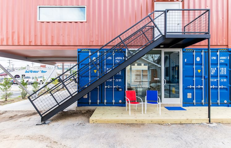 You will stay in the downstairs (blue) containers