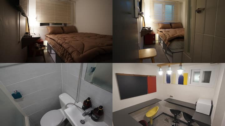 #203 Sinchon Sta 2mins, Hongdae 8mins Blue Mansion