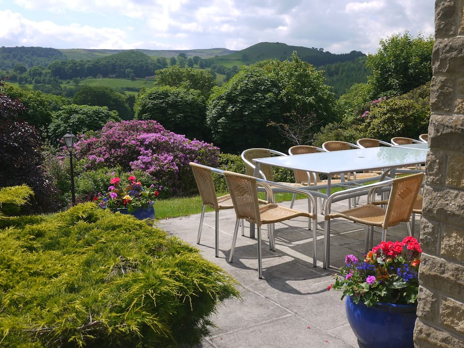 Enjoy the sunshine from the patio with views of the Hope Valley