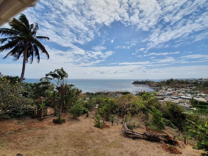 T2 Lot. Majikoro, vue lagon, proche Mamoudzou.