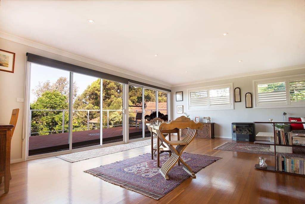 Living Room & Balcony (upstairs)