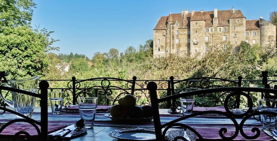 Château Vue Boussac - Jardin - Boussac - Wikt i opierunek