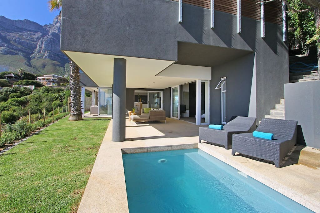 pool patio and garden