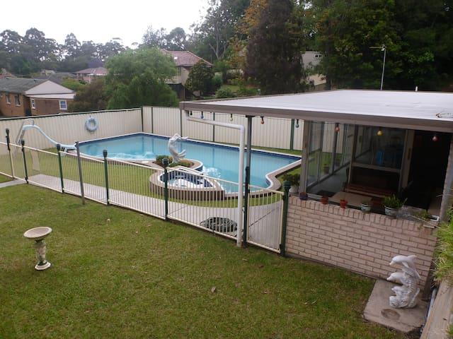 Pool , BBQ area