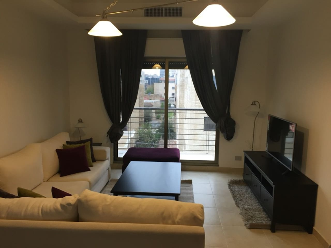 Fully Furnished Living Room with Terrace