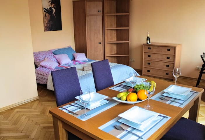 Two-rooms comfy apartment in the center of Warsaw