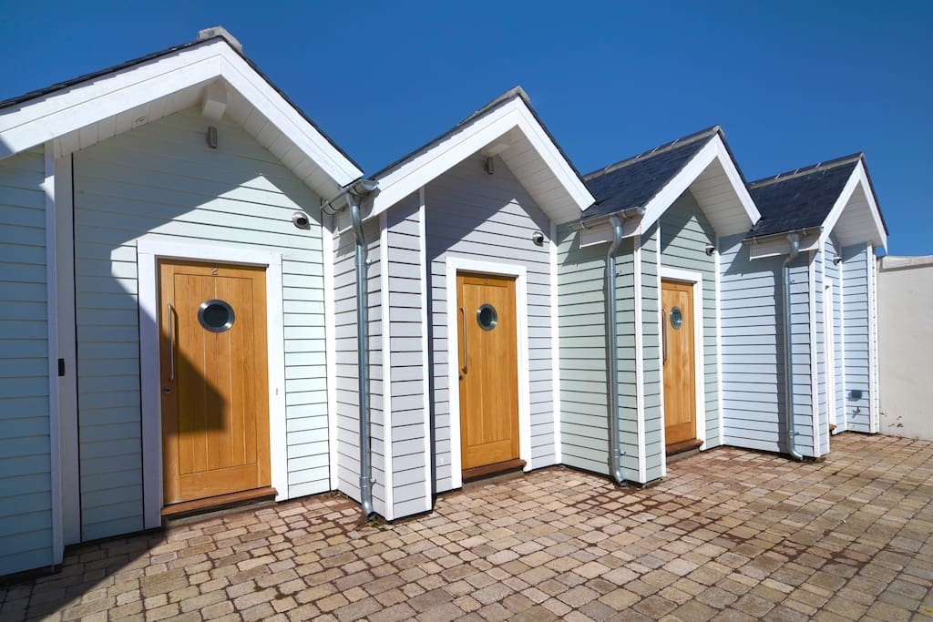 Beach Hut 2 & 5 are holiday rentals bookable through us!