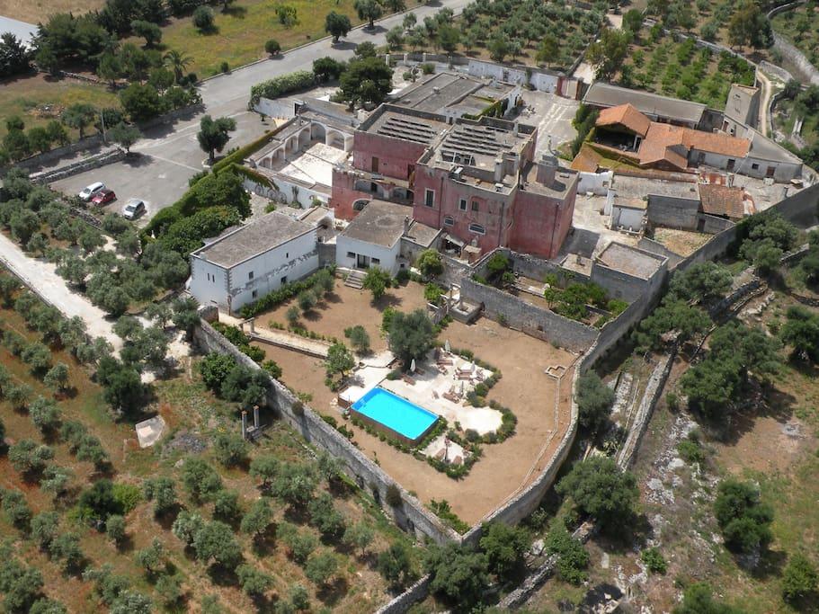 Vista aerea: Orto del Sole con piscina