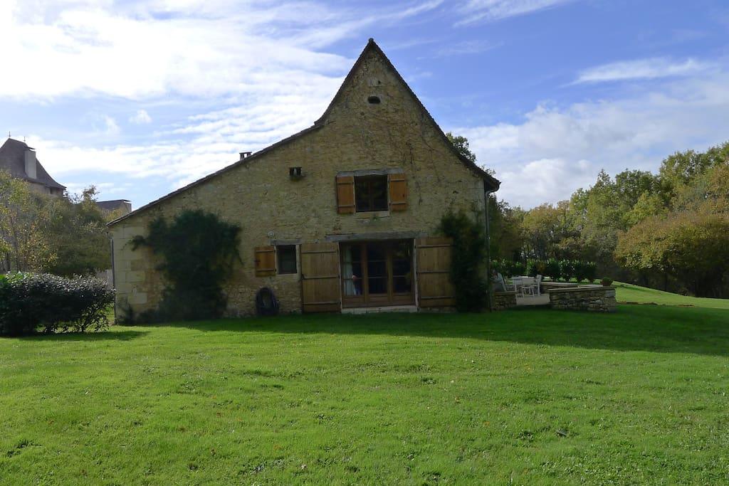 East side of the farmhouse
