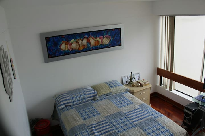 Nice private bedroom-great location in San Isidro