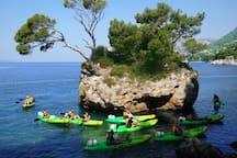 stone Brela -sea kayaking