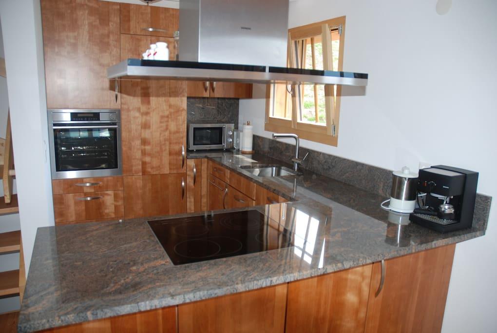 Moderne Küche mit Dampfgarer