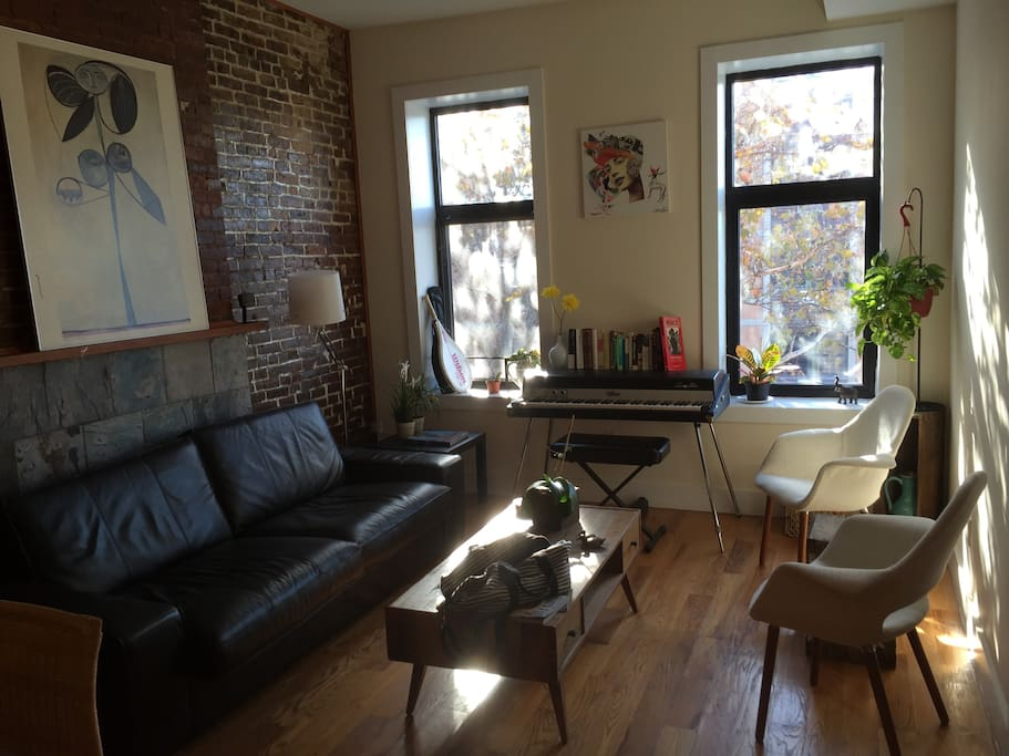 Welcome to our quiet, sunny apartment in Brooklyn, NY!
