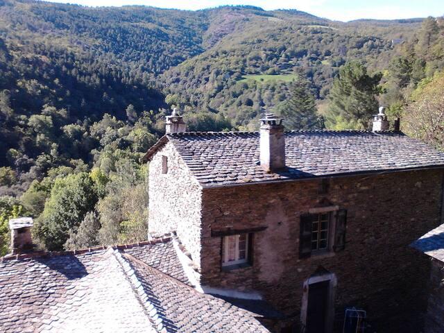Authentique chambre cévenole avec vue sur vallée