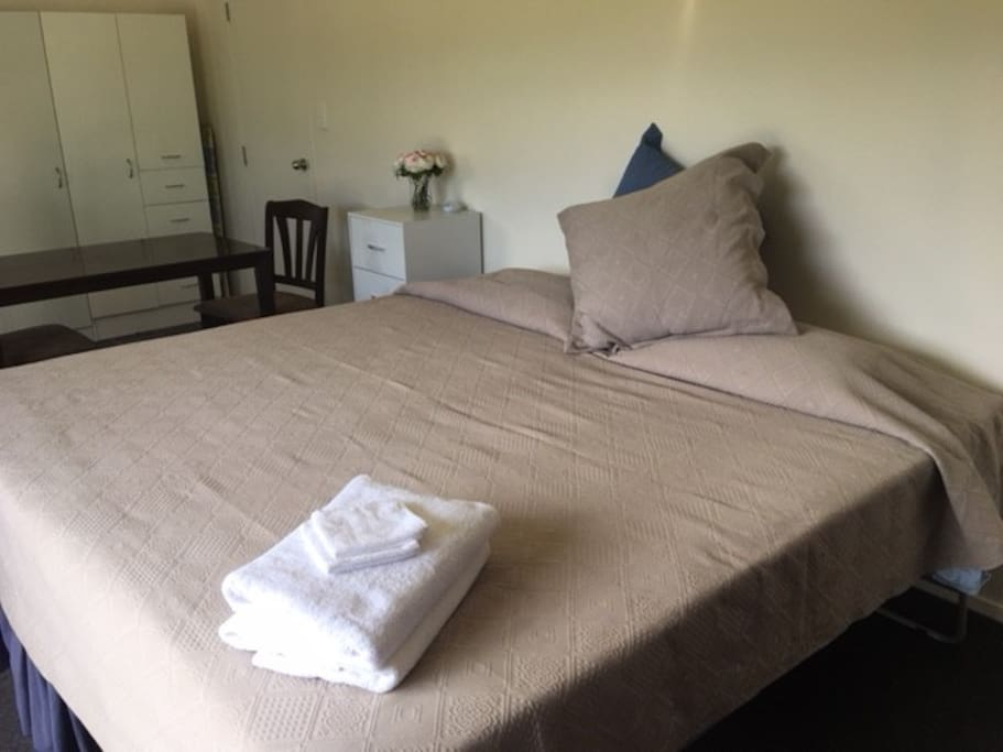 The bed/s are comfortable and can be King Single, Twin or Super King (pictured)