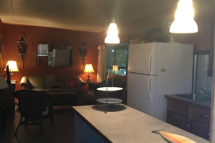 kitchen adjacent to sitting room