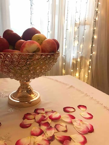 Some fruits and snacks are always offered for the Guests! :)