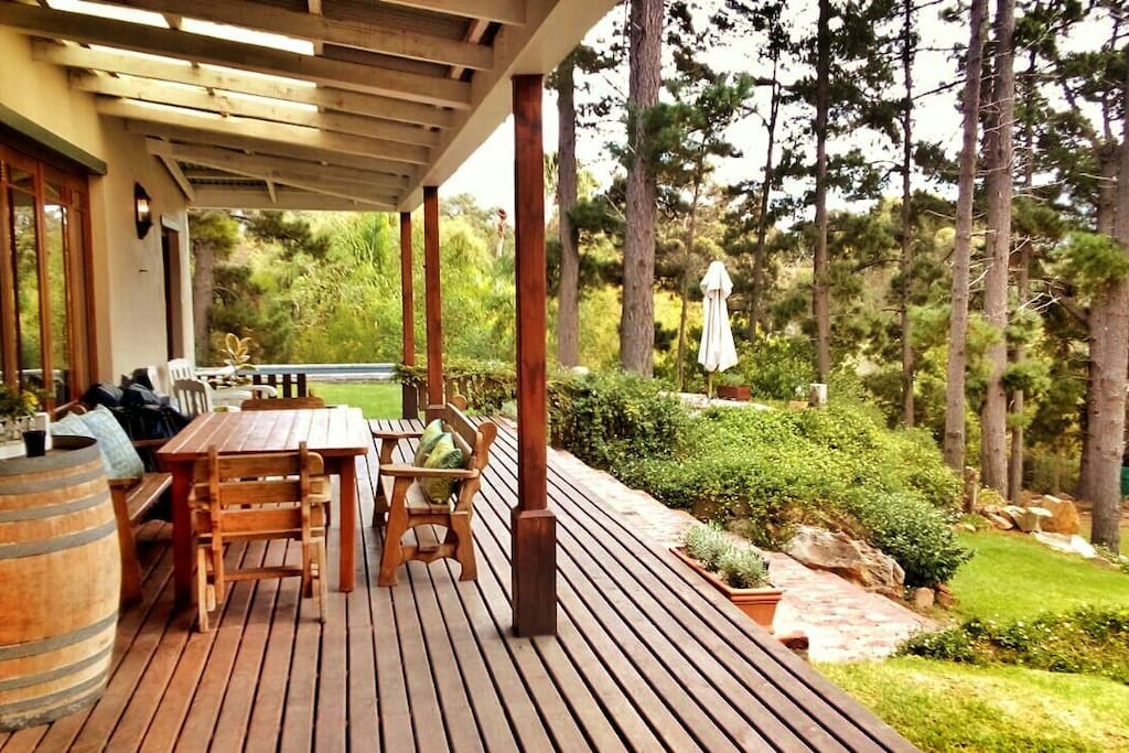 Sunny patio to soak in the beautiful views