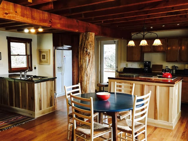 Hidden River Cabin cozy, convenient - Swannanoa - Rumah