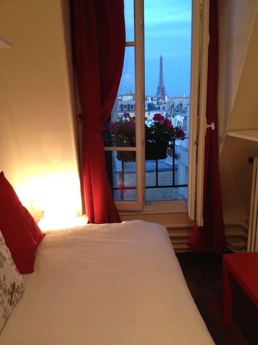 Petit balcon avec vue