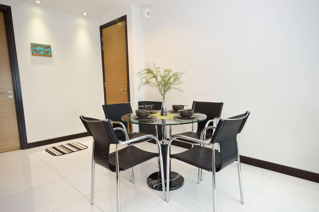 Dining Area able to accommodate 4 people