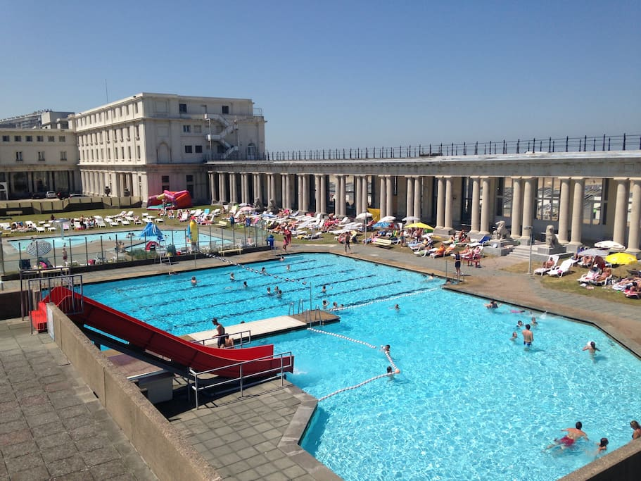 public outdoor swimming pool at 100 m