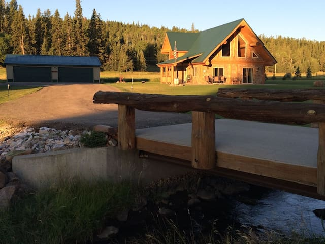 Elk Creek Retreat - wonderful family cabin with the creek babbling in front and acreage behind it!